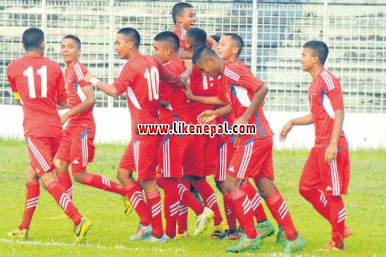 Nepali U-16 Team Makes Flying Start In SAFF C'ship